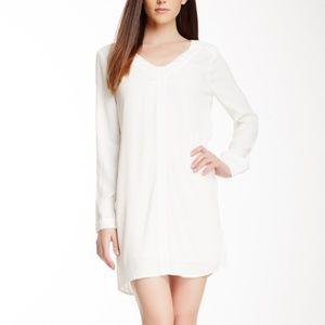 BCBGMaxAzria Levin V-Neck Dress in Alabaster